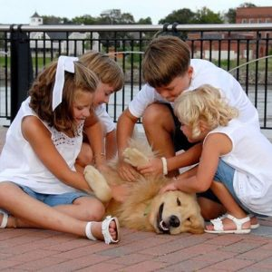 kids with golden