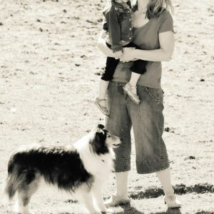 collie with family